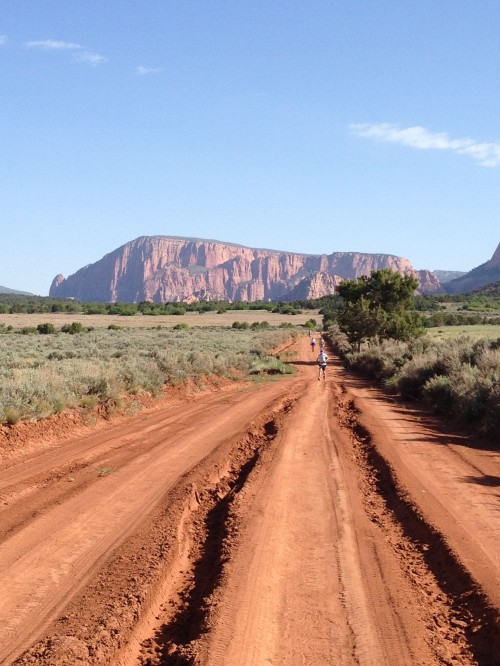 When I attempted the Zion 100. My first of failed 100-mile runs. Still a day well spent.
