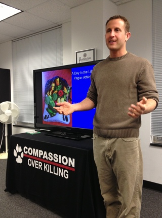 I was honored to be introduced by old friend Paul Shapiro, founder of Compassion Over Killing, who is now with the Humane Society.
